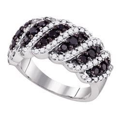 1.45 CTW Black Color Diamond Ring 10KT White Gold - REF-87W2K