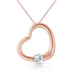 Genuine 0.25 ctw Diamond Anniversary Necklace Jewelry 14KT Rose Gold - REF-78F9Z