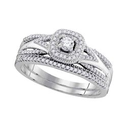 0.33 CTW Diamond Bridal Wedding Engagement Ring 10KT White Gold - REF-43N4F