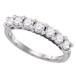 1.02 CTW Diamond Wedding Ring 10KT White Gold - REF-97F4N