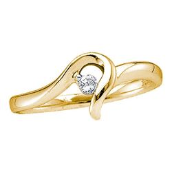 0.05 CTW Diamond Solitaire Bridal Ring 10KT Yellow Gold - REF-12X2Y