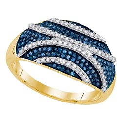 0.51 CTW Blue Color Diamond Fashion Ring 10KT Yellow Gold - REF-49X5Y