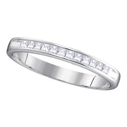 0.25 CTW Diamond 3mm Wedding Ring 14KT White Gold - REF-37X5Y