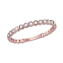 0.18 CTW Diamond Stackable Ring 14KT Rose Gold - REF-22N4F