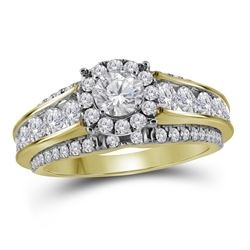 1.98 CTW Diamond Bridal Wedding Engagement Ring 14KT Yellow Gold - REF-299Y9X