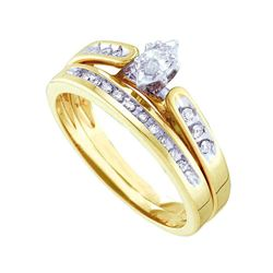 0.19 CTW Marquise Diamond Bridal Engagement Ring 10KT Yellow Gold - REF-34X4Y