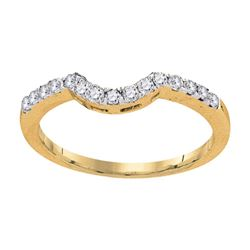 0.28 CTW Diamond Curved Wedding Ring 14KT Yellow Gold - REF-30F2N