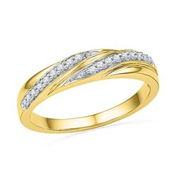 0.10 CTW Diamond Simple Ring 10KT Yellow Gold - REF-14N9F