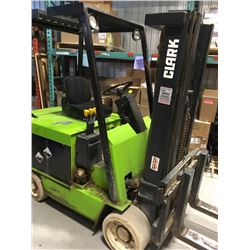 Clark Electric Fork Lift 6000lbs 3 sections & Side Shift with charger