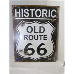 Historic Old Route 66 metal sign 16x12.5 ( repro)