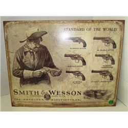 Smith & Wesson Standar of the world metal sign (repro)