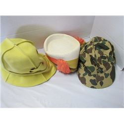 2 ladies hats and 1 camo hat (Eatons)