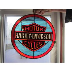 Harley Davidson stainglass sign - lead frame 13x13
