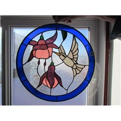 Hummingbird stainglass sign - lead fram 13x13