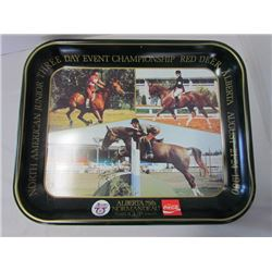 Red Deer Alberta 75th Normandeau cup Coco-Cola tray 1980