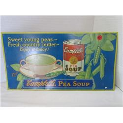 Campbell's Pea Soup Metal sign 18x9.5 (REPRO)