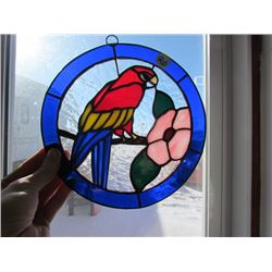 Stainglass Parrot sign - Lead frame 8x8