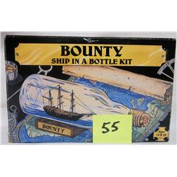 bounty' ship in a bottle kit