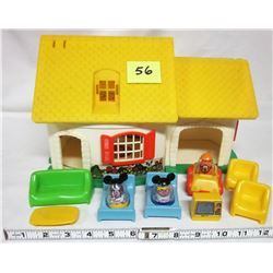 1973 Weebles hasbro house / accessories