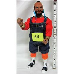 "1983 A-team 'Mr.T' 12"" jointed doll"