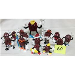assorted 1987 California Raisins figures