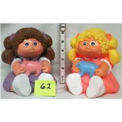 2- 1983 Cabbage patch doll banks