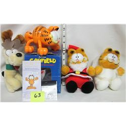 3- 1983 McDonalds Garfield plush dolls