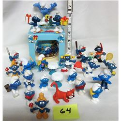 Assorted 1980's - 1990's Peyo Bully smurf figures assorted poses