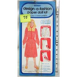 "1979 Whitman 13"" Barbie paper doll kit"