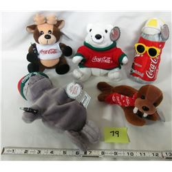 5- 1988 Coke coca-cola plush dolls