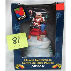 "new Noma Disney musical mickey ornament ""here comes Santa"""