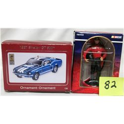 New Carlton Cards heirloom ornament 1967 Shelby Sobra GT 500 plus 2006 Nascar driver ornament