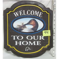 Ducks Unlimited ornate plaque