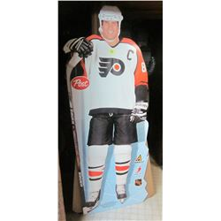 Large cardboard stove displays Lindros + Lay's Messier