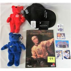 1999 Gretzky tribute manual -X2 1999 Gretzky plush bears
