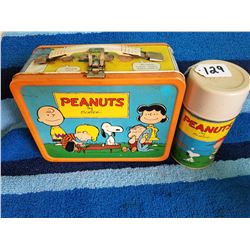 1959 Peanuts Lunch Box with Original Thermos