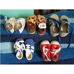 5 Pair New/Old Stock Childs Runners