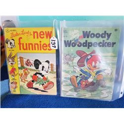 Pair of 10cent Comic Books-Woody Woodpecker