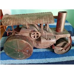 """1930s Pressed Steel Steam Roller 20"""" lon by 13"""" tall"""