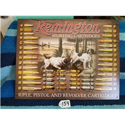 "Remington Sporting Cartridge Adv Sign 16""x12"" Repro"