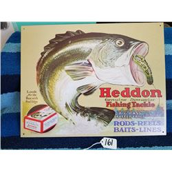 "Heddon Fishing Tackle Sign 16""12"" Repro"