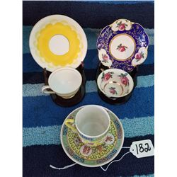 3 Demitasse TeaCups with Stands