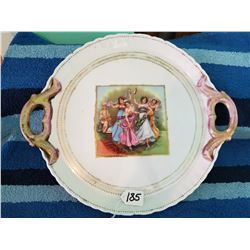 Large Austrian Handled Serving Plate Signed