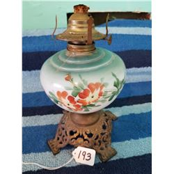 Smaller Hand Painted Oil Lamp