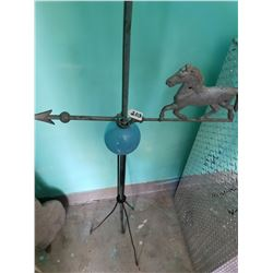 Weathervane with Horse + Blue Ball