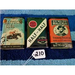 3 Tobacco Pocket Tins