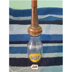 Gulf 1 Qt Oil Jar w Cap