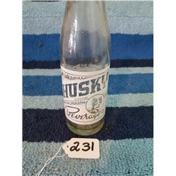 1950's Husky Beverage Pop Bottle 7oz