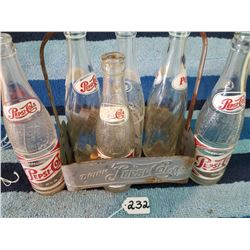 1950s Pepsi Cola 6pck Carrier with bottles