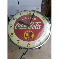 1950s Coca Cola Clock-Working